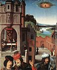 Hans Memling St John Altarpiece [detail 3, left wing] painting
